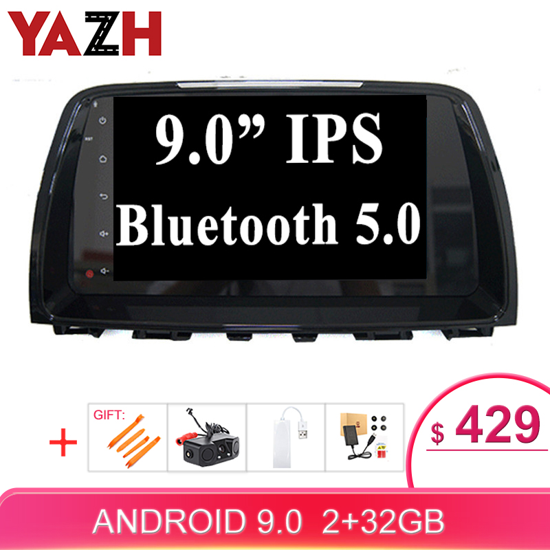 YAZH 2 Din <font><b>Android</b></font> Car Radio Multimedia For <font><b>Mazda</b></font> <font><b>6</b></font> <font><b>Atenza</b></font> 2014 With 9.0 inch IPS HD Video <font><b>Android</b></font> 9.0 Display 2GB 32GB 1024*600 image