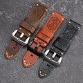 Ручной работы Череп Кожаный ремешок X-MEN солдатиком Слои кожаный ремешок 20 22 24 мм Совместимость для PAM111 мягкий браслет