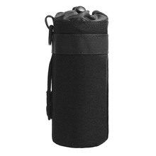 Hunting Water Bottle Bag Molle System Kettle Pouch Holder Camping Cycling Bottle Bag Drawstring Pouch Bag for Tactical Backpack camping sports water bag new outdoor tactical military molle system bottle bag kettle pouch holder