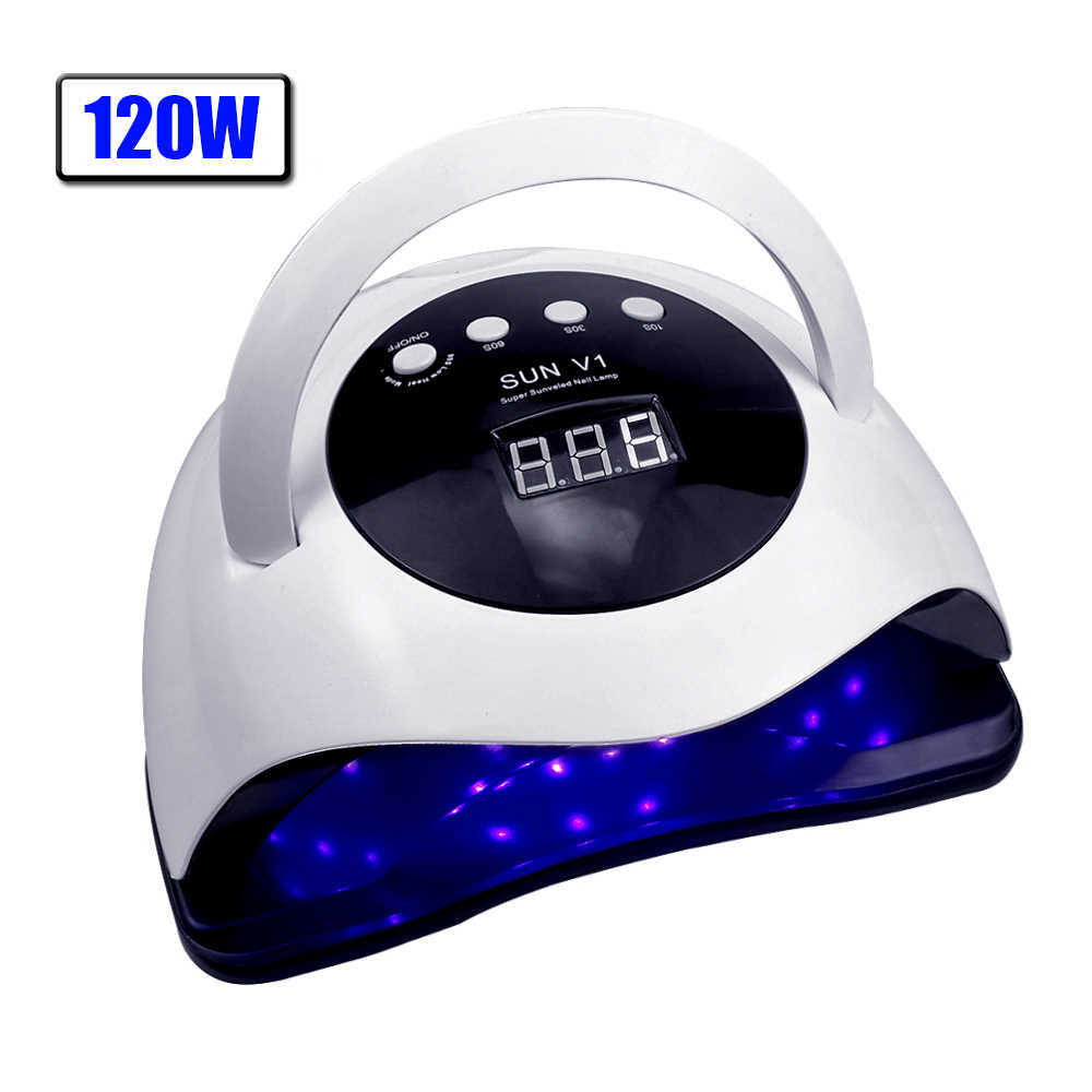 Pro 120W UV Lampe LED Nagel Lampe High Power Für Nägel Alle Gel Polish Nagel Trockner Auto Sensor Sonne led Licht Nail art Maniküre Werkzeuge