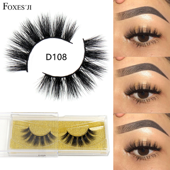 FOXESJI 3D Mink Lashes False Eyelashes Thick Fluffy Natural Handmade Eyelash Extension Volume Eye Lashes Eyelashes Makeup Tools недорого