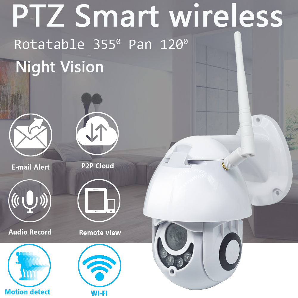 2MP PTZ Outdoor Dome Camera Waterproof CCTV IP Camera WiFi 1080P Optical Zoom Motion Detection Home Security surveillance