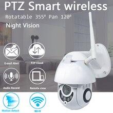 2MP PTZ açık WiFi kamera su geçirmez CCTV IP 1080P kızılötesi tam renkli gece görüş hareket algılama ev güvenlik Dome kamera