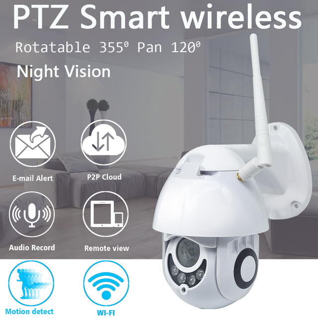 2MP ptz屋外無線lanカメラ防水cctv ip 1080 1080p赤外線フルカラーナイトビジョンモーション検出ホームセキュリティドームカメラ