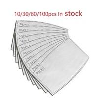 Dropshipping Hot Sale 30pcs/10pcs PM2.5 mask Activated Carbon Filter Fa