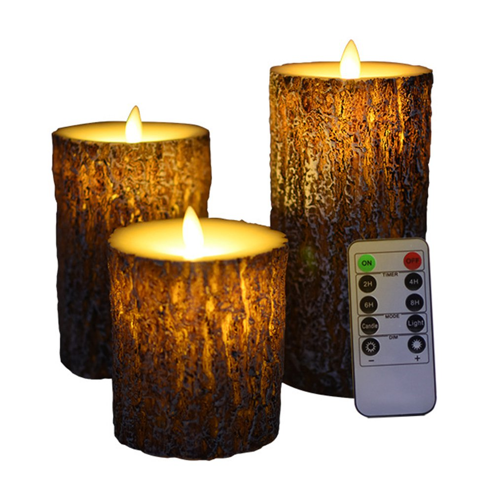 3pcs LED Candle Lamp Multicolor Simulation Flameless Tea Light Wedding Home Birthday Party Decoration Cake Candles 10 Keys