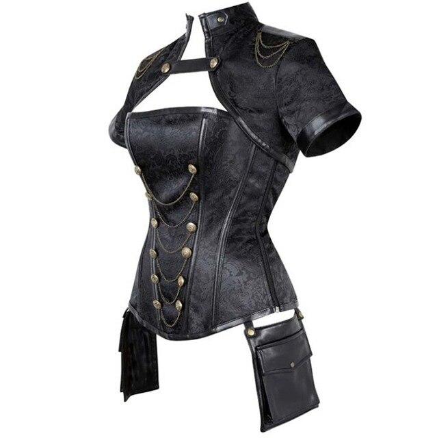 Фото новый готический костюм стимпанк винтажные корсеты с коротким цена