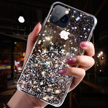 New transparent star mobile phone case Epoxy female protective cover