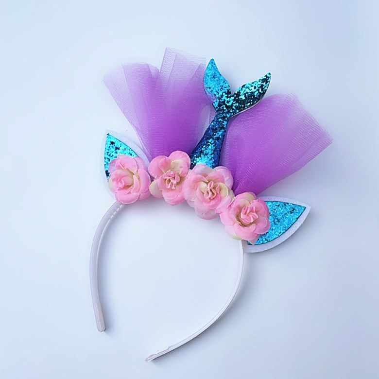 Cute Headband Unicorn Party Headband Girls Favor Mermaid Hairband  Accessories Birthday Kids Party Decorations Cosplay Supplie