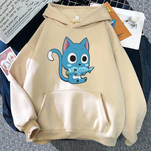 Japanese Anime Fairy Tail Hoodie Women Hoodies Casual Pullover Hoodied Harajuku Sweatshirt Plus Size Hoody 6