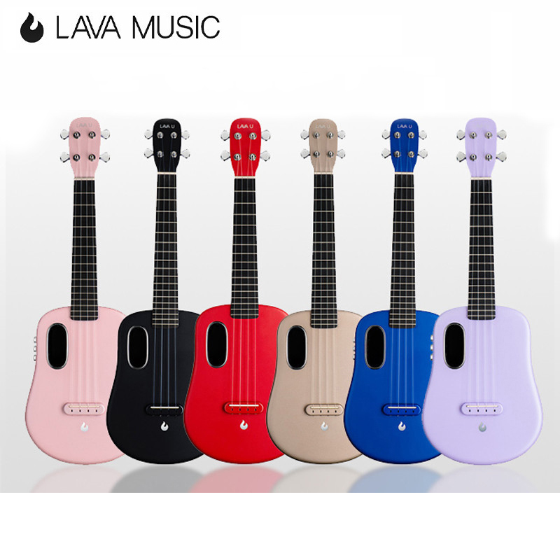 LAVA U Carbon Fiber FreeBoost Ukulele 23 Inch 26 Inch Tenor Ukulele With Effects Without Plugging In Travel Ukulele With Case