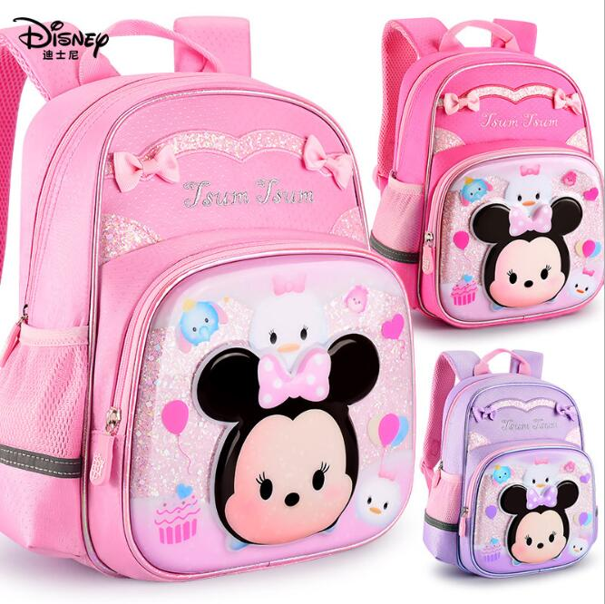 Disney Minnie Mouse Girls Pink School Backpack Book bag Kids Children Cartoon