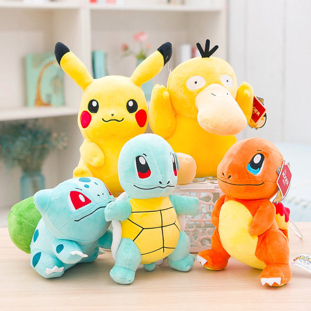 Nowy Pikachu Eevee Snorlax Squirtle Bulbasaur Charmander Mew Anime Elf pluszowe poduszki do zabawy miękkie wypchana lalka dla dzieci prezent