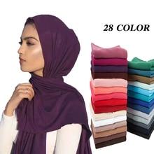 10pcs/lot Women Muslim Jersey Hijab Scarf Foulard Femme Size Plus Hijabs Islamic Shawls Soild Modal Headscarf For Women