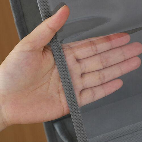 6 Pocket Hanging Handbag Organizer for Wardrobe Closet Transparent Storage Bag