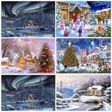 Алмазная 5d картина Рождественская полная круглая вышивка зимний