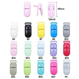 Image 3 - BOBO. BOX 100Pcs Baby Schnuller Clip Kunststoff Baby Halter Schnuller Schnuller Multicolor Infant Dummy Clip Nippel Halter Baby Schnuller