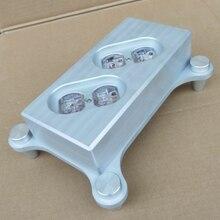 Креативный высококачественный полностью алюминиевый HIFI чехол US power стандарт США Разъем питания шасси HiFi DIY коробка/4 гнезда