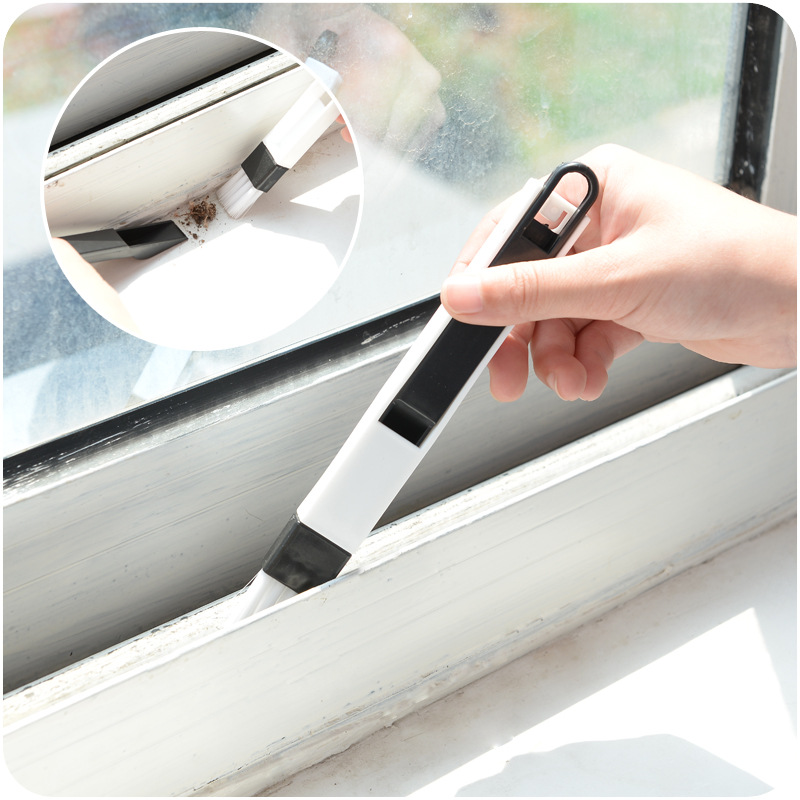 Multi Functional Kitchen And Bathroom Door And Window Groove Cleaning Brush Computer With Dustpan Gap Brush Cleaning Supplies