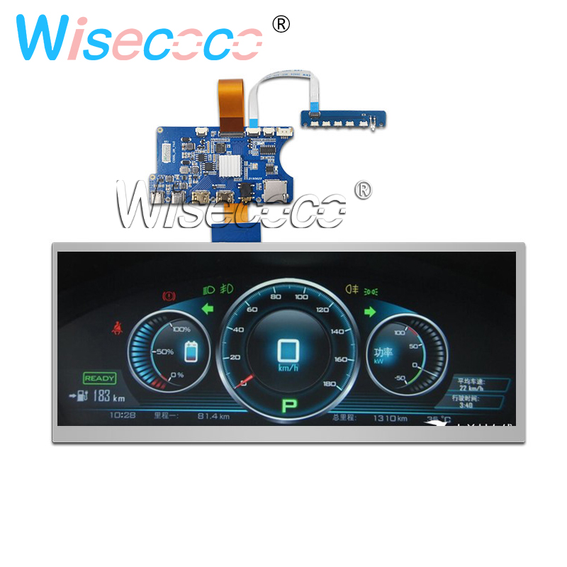 12.3 Inch HSD123KPW1-A30 LCD Stretched Bar Screen 1920*720 Car HDMI Type-C Controller Board 850 Nits Landscape Mode