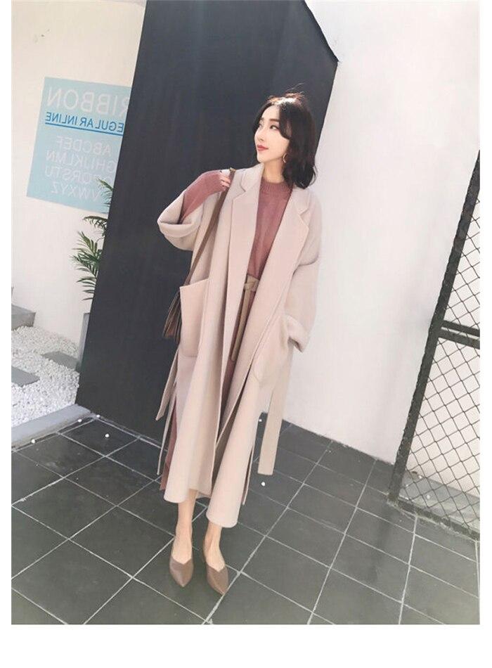 Liva girl Long Coat Winter Coat Women Belted Solid Coat Women's Jacket Women's 5 Colors Coat wool Coat 10