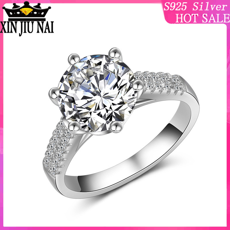 925 Sterling Silver CZ Cocktail Big Exaggerated Ring Big Stone Cubic Zirconia Micro Pave Eternity Wedding Band Cathedral Ring