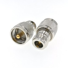 UHF PL259 штыревой к N гнездовой разъем адаптера