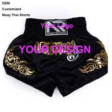 Customized Thai Shorts for professional boxing training, MMA wrestling shorts for girls, boys and adults, OEM