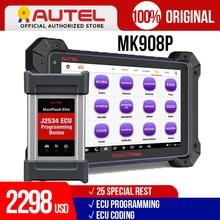 Autel MaxiCOM MK908P MS908P otomotiv tanılama aracı obd2 tarayıcı tüm sistem ECU programlama J2534 programcı PK Maxisys Elite