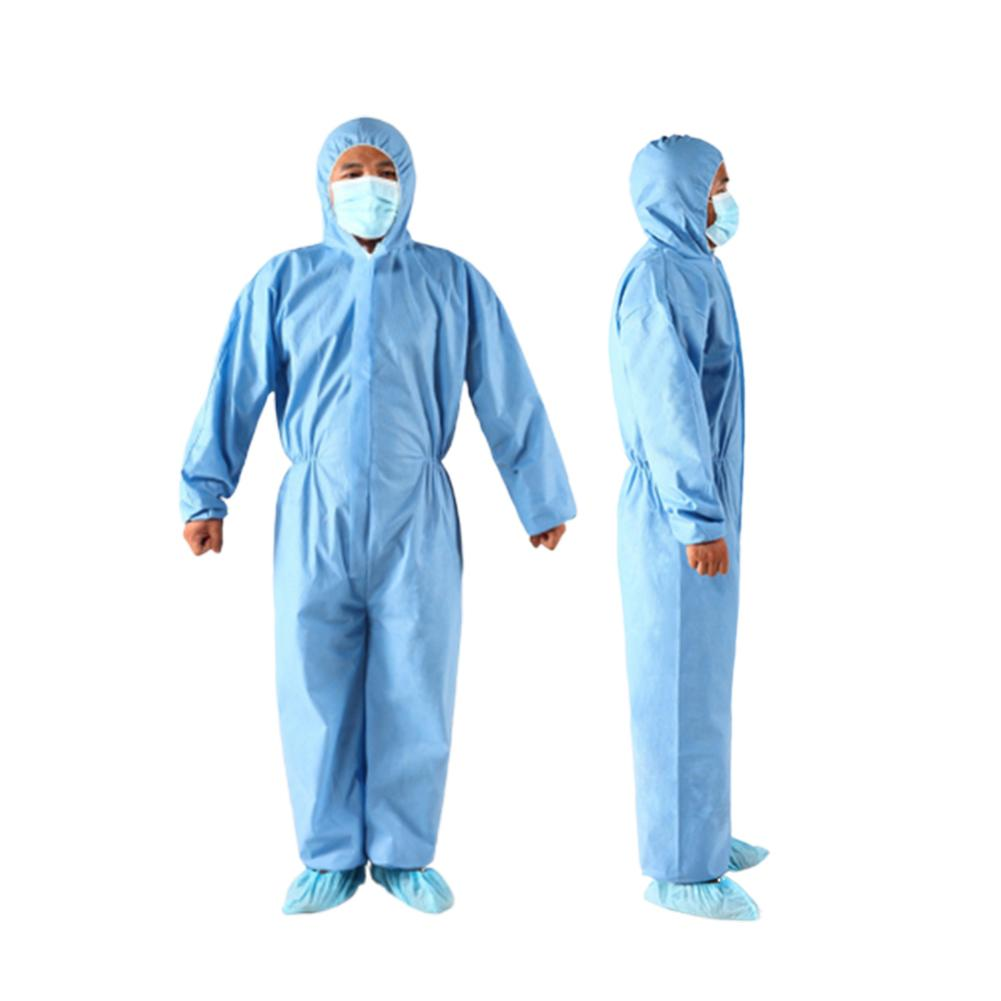 Protective Unisex Disposable Non Woven Zip Isolation Gown Overall Coverall Protective Suit