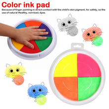 Funny 2 Colors Ink Pad Stamp DIY Finger Painting Craft Cardmaking For Kids Drawing baby toys 0-12 months Toy