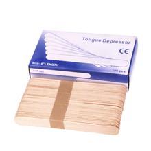 100Pcs/Set Wooden Tongue Depressor Sticks Waxing Wax Spatula Disposable Bamboo Sticks Safety Stick Tongue Beauty Health Tool