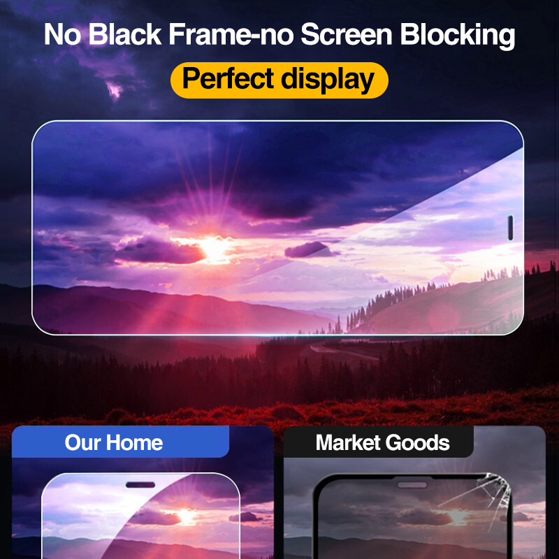 4Pcs Full Cover Tempered Glass For iPhone 11 Pro X XR XS MAX 12 Pro Max Mini Screen Protector For iPhone 6 7 8 Plus Glass film 3