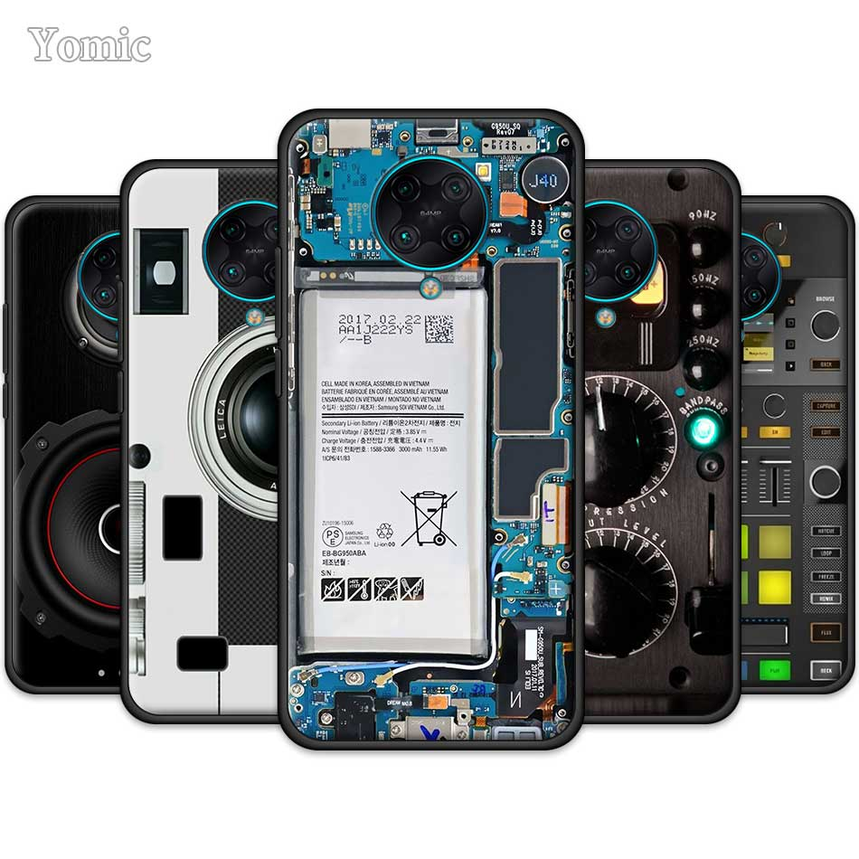 Camera Battery Calculator Case For Xiaomi Redmi Note 8 8T 9S 9 10X 4G K20 K30 Pro K30i 5G 6 7 8A TPU Black Silicone Phone Cover