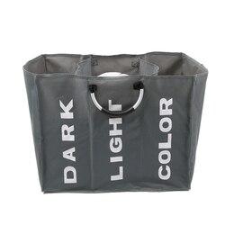 Складная корзина для грязного белья, органайзер, складная корзина для грязного белья с тремя сетками, корзина для хранения грязной одежды