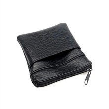 Fashion Pu Leather Cheap Coin Purse Women Men Small Mini Short Wallet Bags Change Little Key Credit Card Holder Business(China)