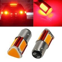 Brake-Light Parking-Bulbs Night-Security-Lighting LED 12V COB DC Red 1157 1PCS BAY15D