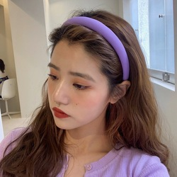 New Korean Wide Plastic Headband Solid Color Hair Band Hair Hoop Fashion Hair Accessories for Women Anit-slip Hairband Wholesale