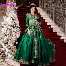 Sodigne арабский мусульманское вечернее платье элегантное с