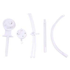 Image 2 - תינוק צעצועי לבן רעשנים סוגר סט מיטת תינוק נייד מיטת פעמון צעצוע מחזיק זרוע סוגר רוח תיבת נגינה זרוק חינם