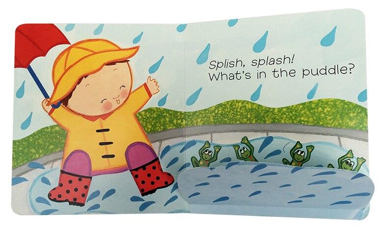 inglês papelão livros para crianças brinquedos educativos