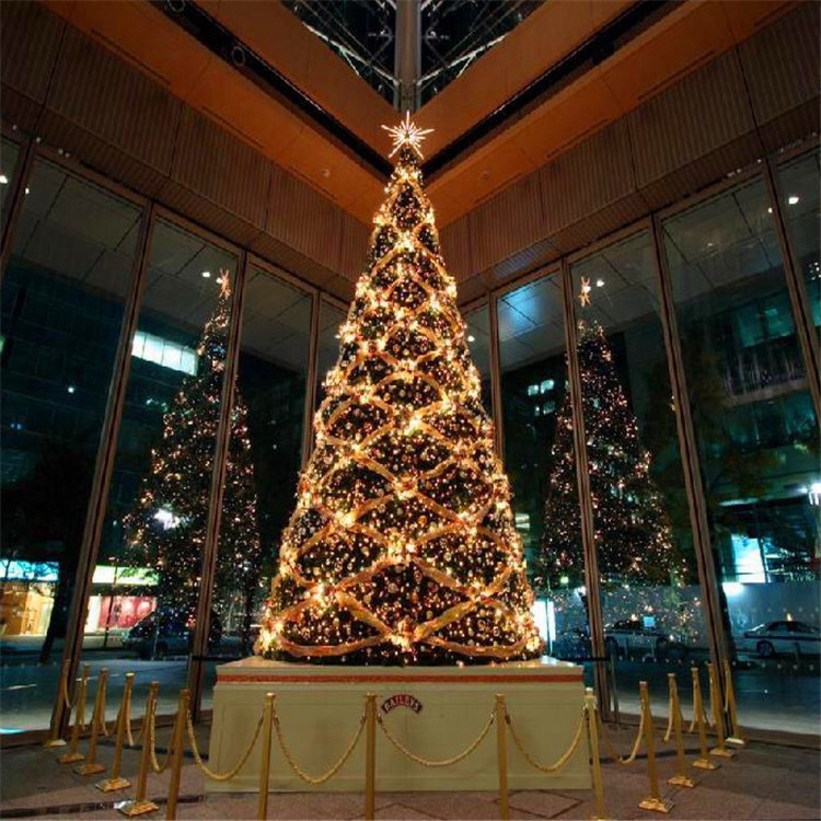 Christmas Decorations Large Steel Frame Christmas Tree Frame Hotel Shopping Mall Outdoor Christmas Scene Decoration