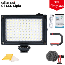 Ulanzi Mini LED Video Light Photo Lighting on Camera Hotshoe Dimmable LED Lamp for Canon Nikon Sony DSLR Youtube Vlogger Gimbal