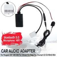 HIFI Car Audio Cavo Adattatore Microfono MIC AUX del Giocatore di Musica Senza Fili di bluetooth Per Peugeot 307 408 Per Sega