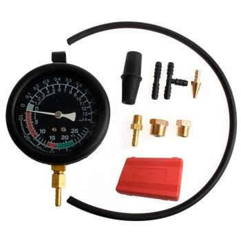 Hot  1 Set  Auto Car Fuel Pump Vacuum Tester Gauge Leak Carburetor Pressure Diagnostics with Case car-styling