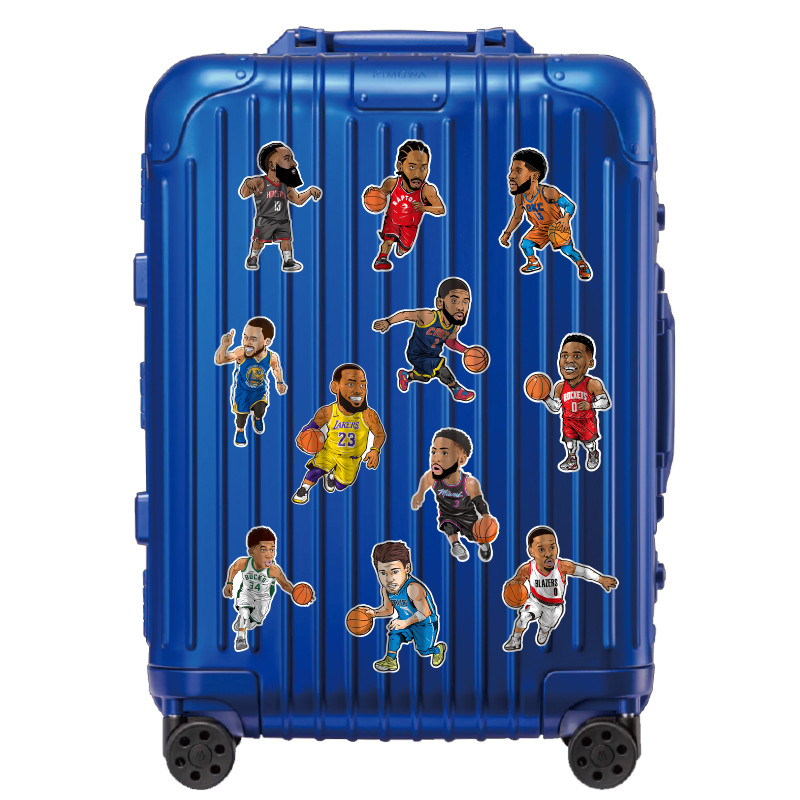 11Pcs/Set Luggage Boys StickersToys Sport Basketball Stars Decal Waterproof PVC for Laptop Pitcher Guitar Skatebboard Decorate