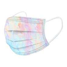 Mascarilla facial desechable de 3 capas para niños, máscara no reutilizable con degradado, a prueba de polvo, 10 Uds.