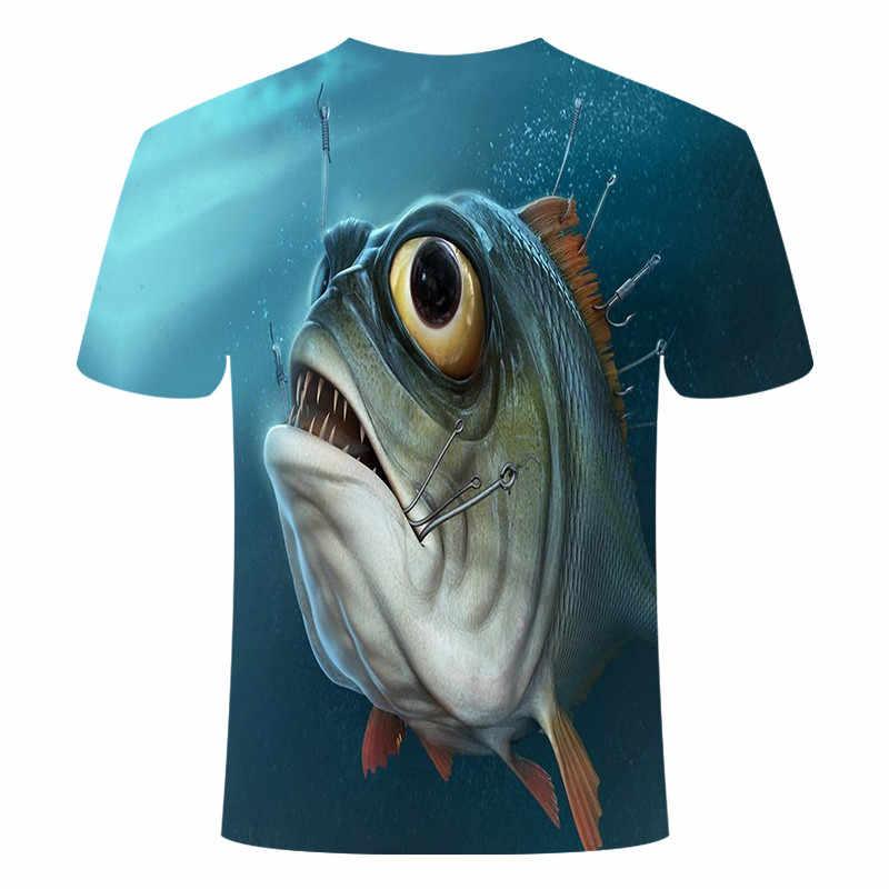 2020 새로운 남성 레저 3d 인쇄 티셔츠, 재미있는 물고기 인쇄 남성과 여성 tshirt 힙합 티셔츠 하라주쿠 아시아 크기 s-6xl