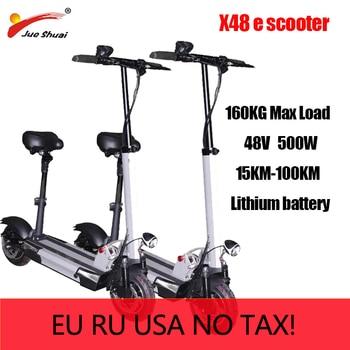 Patinete eléctrico plegable para Adulto, 48V, 500W, 100KM de larga distancia, 10...