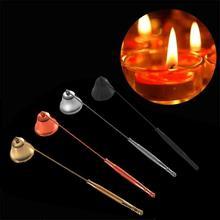 Бездымный фитиль для свечей из нержавеющей стали, колокольчик, домашний ручной набор инструментов, аксессуары для свечей, держатели